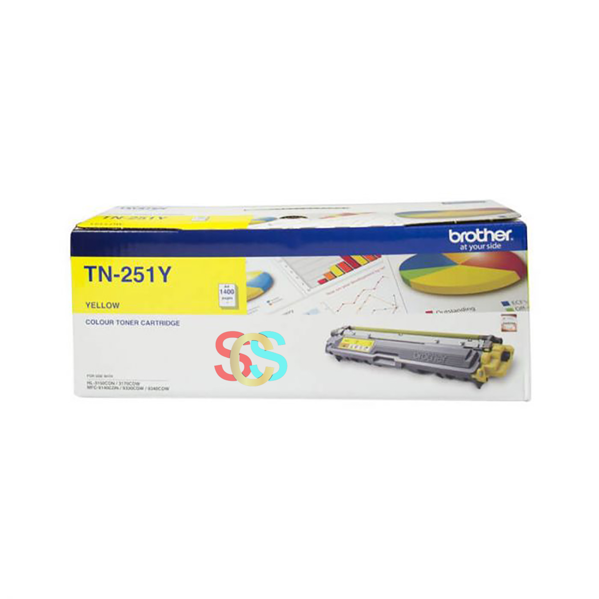 Brother TN-261 Yellow Color Toner