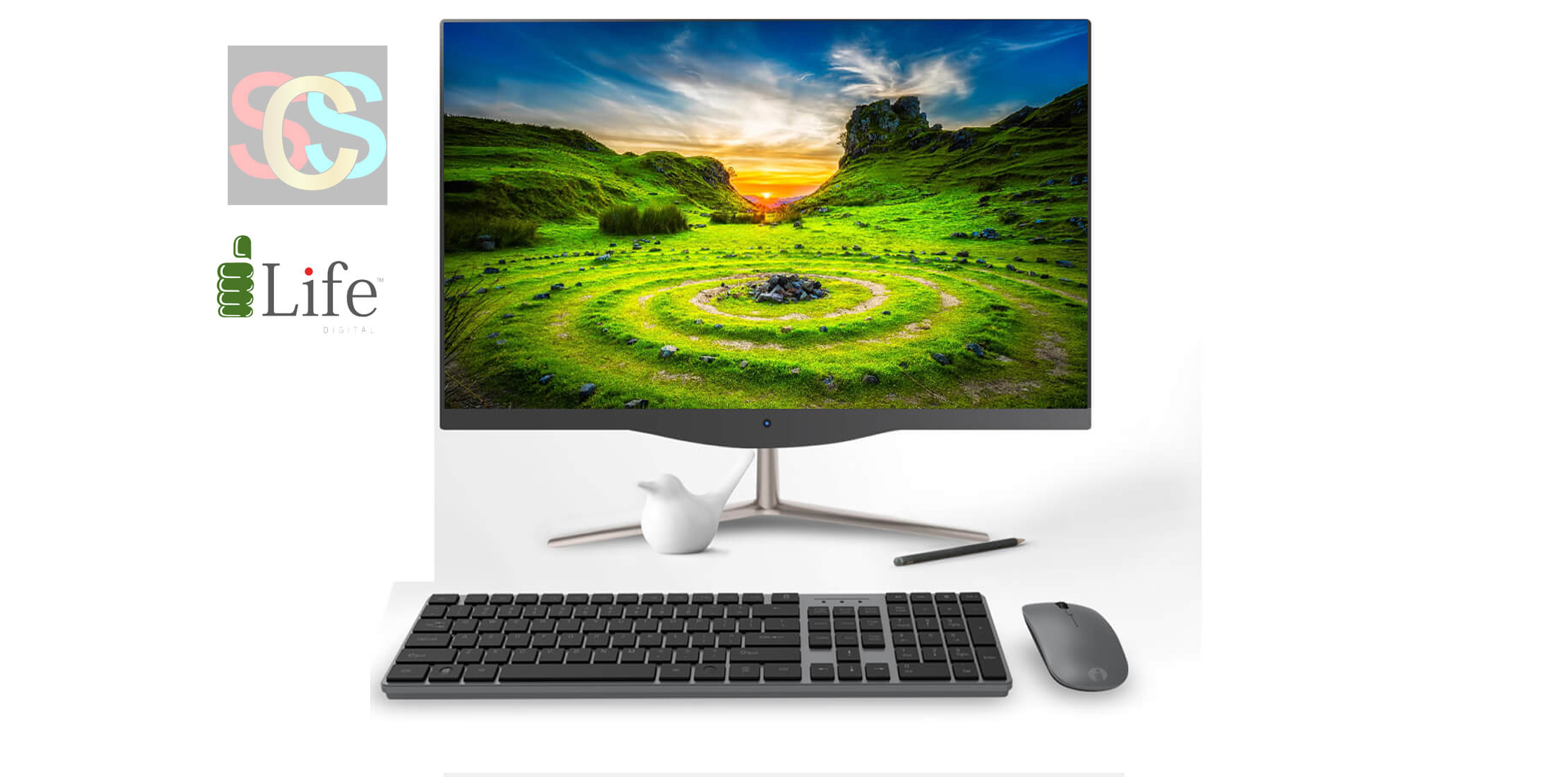 i-Life ZED PC CX3 21.5″ HD Core i3 All in One PC with Genuine Windows 10 The all-new Zed Air CX3, featuring the latest generation of Intel Core i3-5005U Processor (3M Cache, 2.00 GHz), Intel HD Graphics, help apps load faster and allow multiple tasks to run simultaneously without lag. Easily take on everyday computing tasks, watch videos, or surf the web with 4 GB DDR III RAM. USB 3.0 helps you to transfer data up to 1.5gbps speed. The ultrathin Zed PC CX3 saves on space and gives any room, an extra touch of elegance with only 9 mm screen thickness. Zed PC CX3 with its battery backup, supports up to 3 hours of runtime in case of an unexpected power outage and also owns M.2 slot. With this you can Browsing, watching movies online is faster with the 802.11ac wireless standard. Windows 10 home gives you great multi-tasking features for quickly and efficiently getting things done. And enjoy additional security features that help to safeguard you against device theft and malicious software. Wireless Keyboard and Mouse allow stress free working and help to increase you overall productivity.
