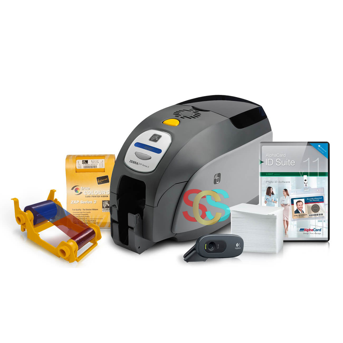 Zebra ZXP Series 3 Card Printer (Single-Sided Printing, Without Ribbon & Card)
