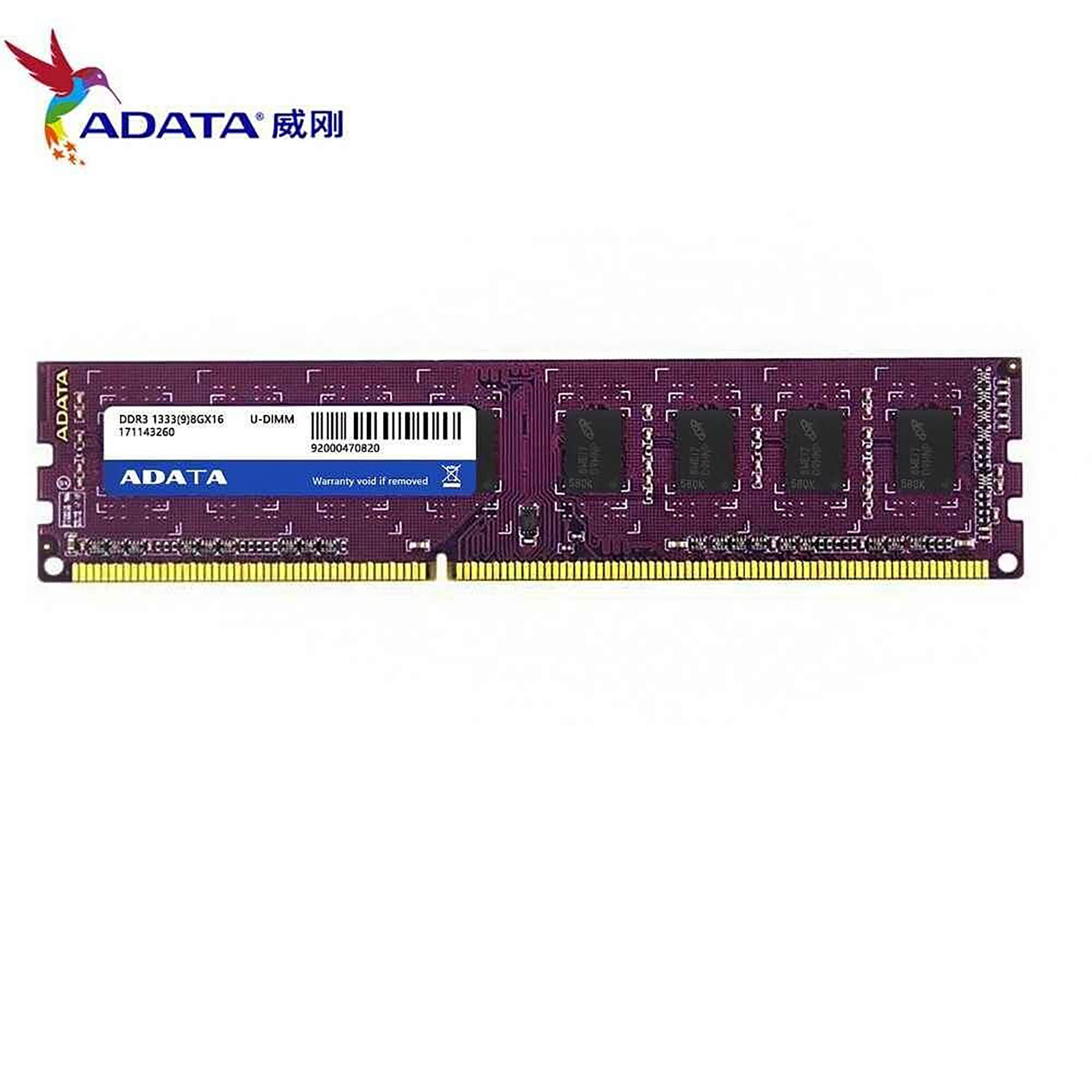 Model - Adata 8GB, Capacity(MB) - 8GB, Type - DDR3L, Bus Speed(MHz) - 1600MHz, Number of Pin - 240-pin, CAS Latency - CL11, Voltage - 1.35V, Warranty - Product Lifetime, Others - Module Type: VLP U-DIMM, Speed: PC3L-12800, Rank: Dual, Data rate: 1600MT/s, Form factor: Standard (1.18 Inch height), Suitable for: Desktop / Thin client, Part No - ADDX1600W8G11-SPU