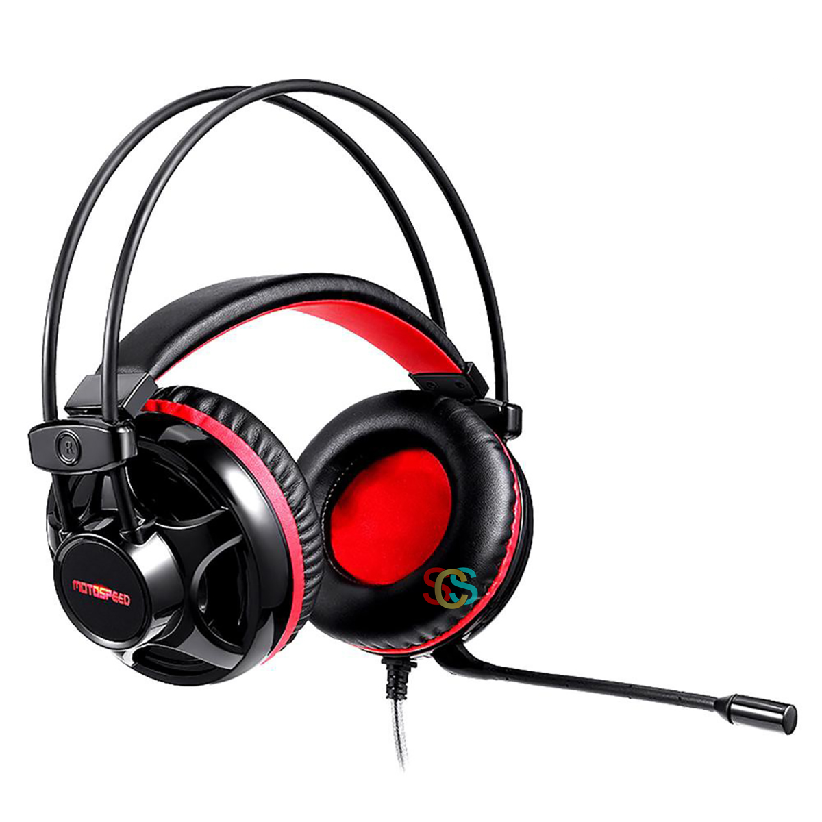Motospeed H11 Wired Black-Red Gaming Headphone