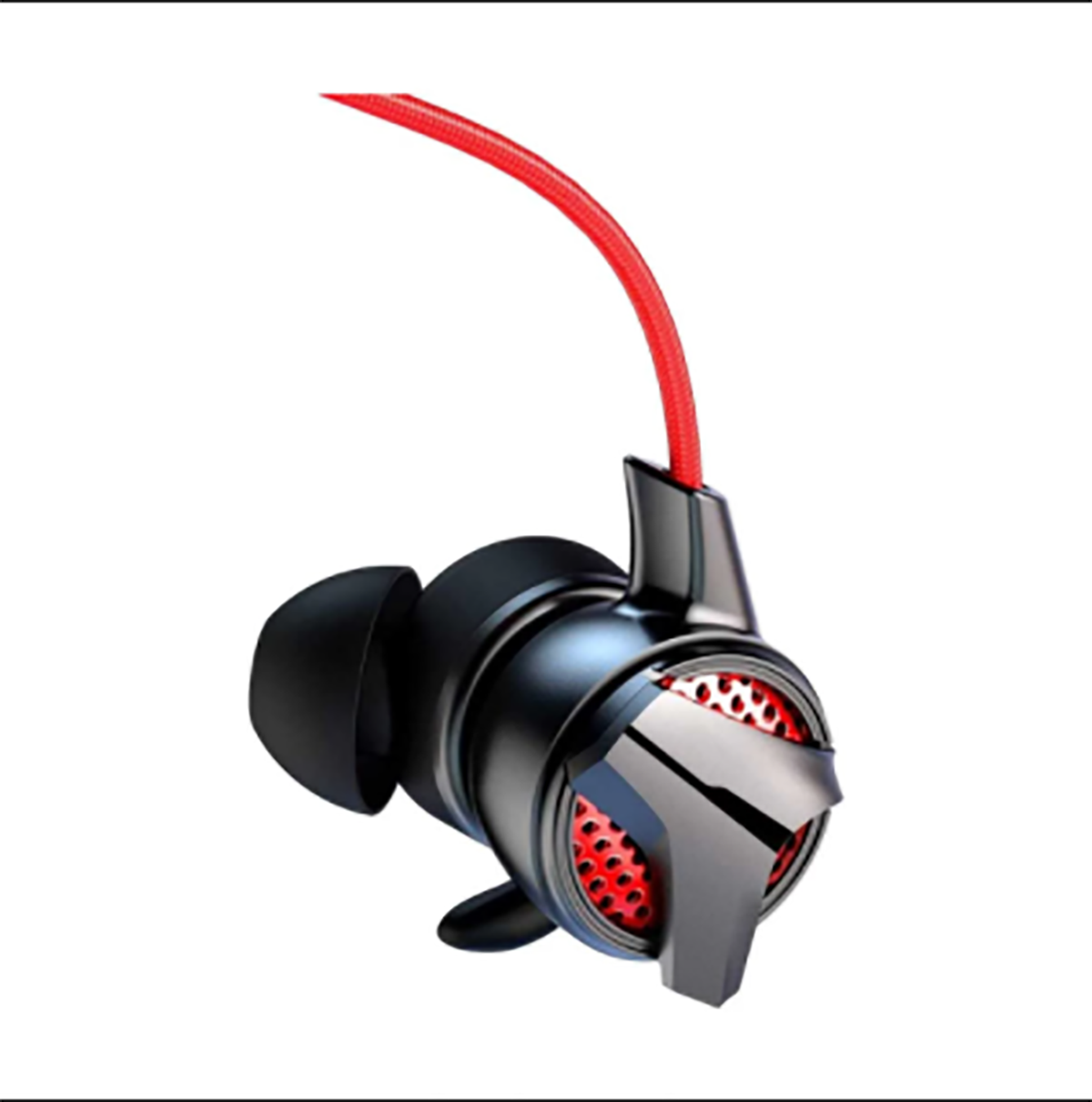 """Brand - Baseus, Model - Baseus GAMO H15, Type - In-Ear Earphone, Connectivity - Wired, Frequency Response - 20Hz - 20KHz, Microphone - Yes, Body Materials - ABS+TPE, Plug Type - 3.5mm Jack, Cord/Cable Length - 1.2 Meter, Color - Red-Black, Feature - 1 meter plug-in microphone, One button double microphone design, Hi-Fi music, listen for position Gallop the battlefield, Sliding wire-controlled volume, Suitable for 3.5mm audio interface devices, Elbow socket design, fit the finger arc to upgrade the game experience, Packet Contents - 1 x BASEUS GAMO H15 3.5mm Wired Earphone, 1 x Microphone, 2 x Ear Buds, Part No - NGH15-91, Warranty - 1 Year, Country of Origin - China, Made in/ Assemble - China """"Keyword"""" """"baseus gamo h15 price in bangladesh"""" """"baseus gamo h15 review"""" """"baseus gamo h15 vs plextone g30"""" """"baseus gamo c15"""" """"baseus gamo c18"""" """"baseus gamo h15 aliexpress"""""""