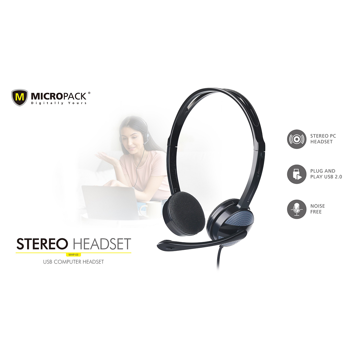 """Brand - Micropack, Model - Micropack MHP-03, Type - USB Headset, Connectivity - Wired, Color - Black, Part No - MHP-03, Warranty - 1 Year, Country of Origin - China, Made in/ Assemble - China """"Keyword"""" """"micropack headphone price in bd"""" """"micropack mhp-600"""" """"pioneer headphones price in bangladesh"""" """"edifier w280bt price in bd"""" """"prolink wire phe 1001e price in bangladesh"""" """"edifier k800 headphone price in bangladesh"""" """"micropack bangladesh"""" """"micropack headphone"""" """"micropack wireless mouse"""" """"micropack g850"""" """"micropack power bank"""" """"micropack km-218w"""""""