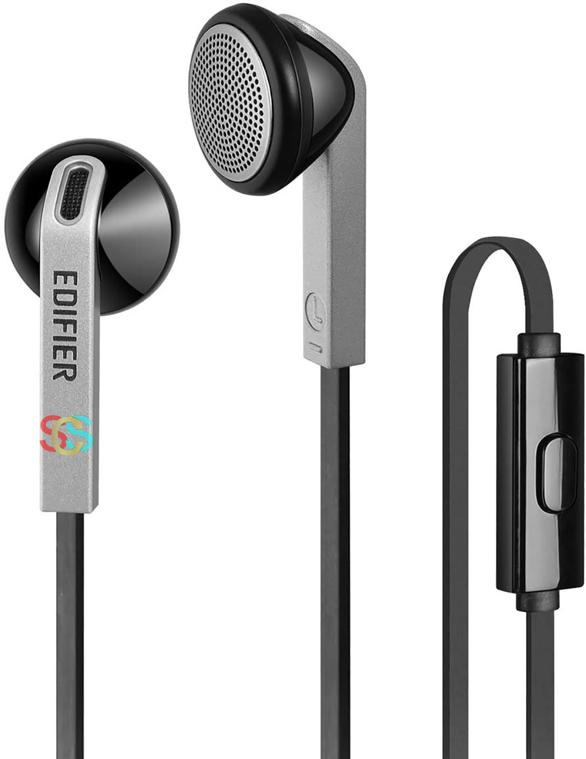 Edifier H190 Hi-Fi Sound Comfortable Fit Wired Black Silver Earphones