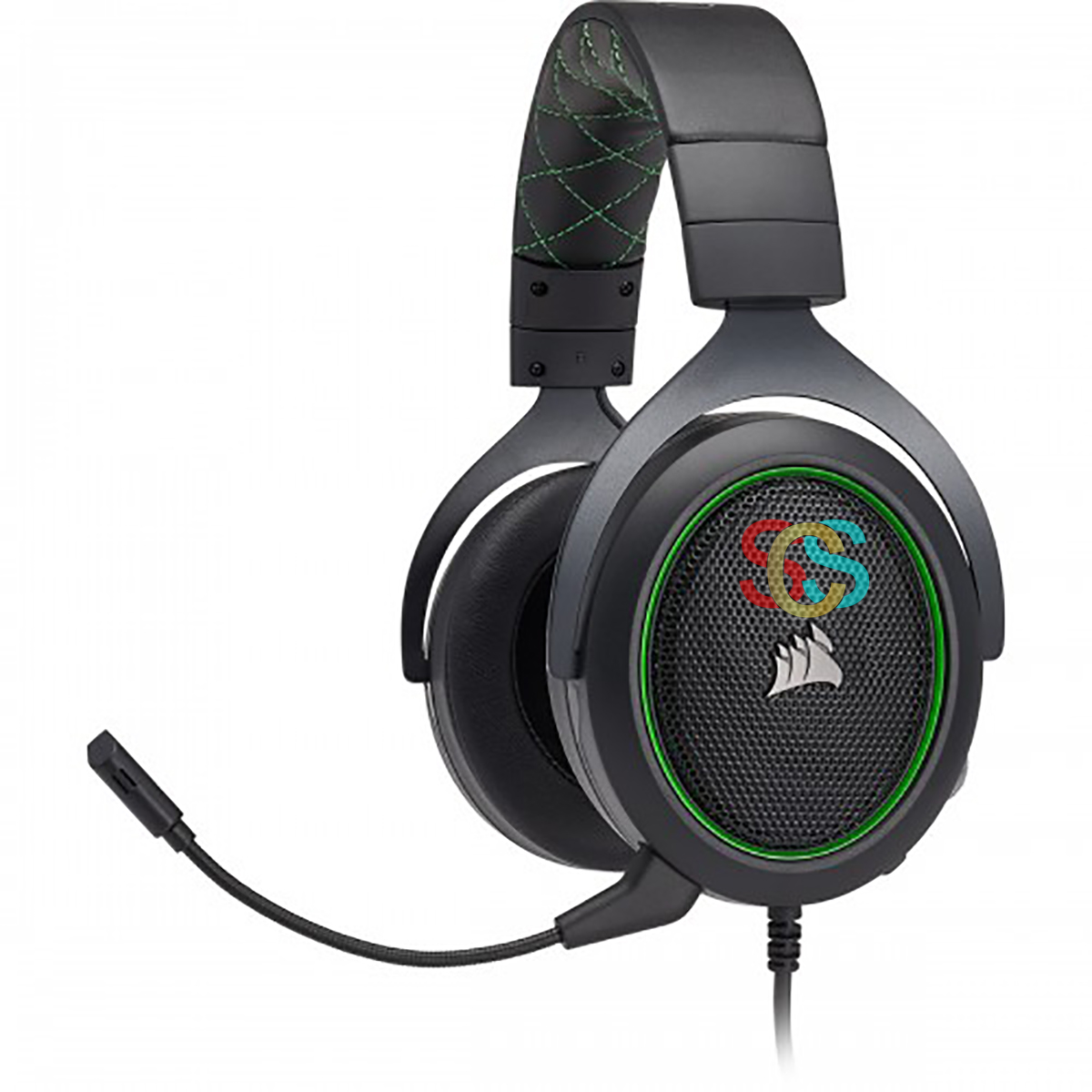 Corsair HS50 Pro Wired Black Stereo Gaming Headset-Green