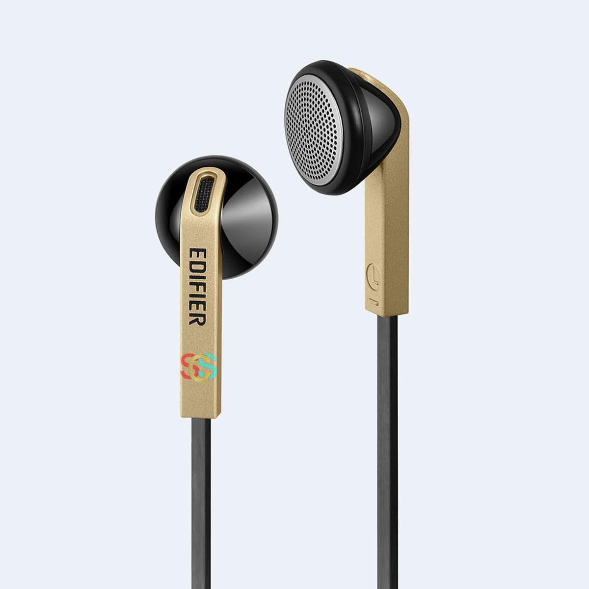 Edifier H190 Hi-Fi Sound Comfortable Fit Wired Black Gold Earpho