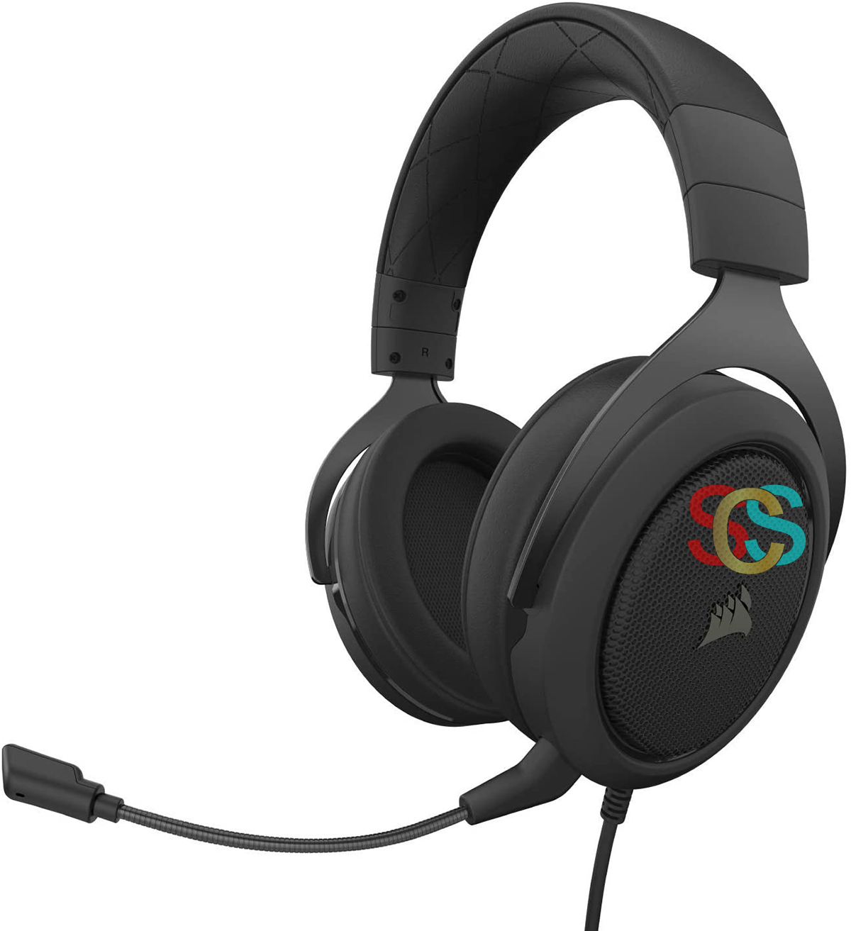 Corsair HS50 Pro Wired Black Stereo Gaming Headset-Blue