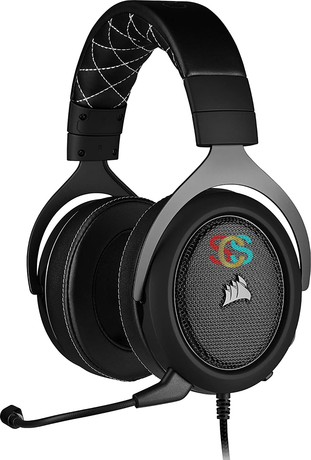 Corsair HS60 PRO Wired Surround Gaming Headset-Carbon (AP)