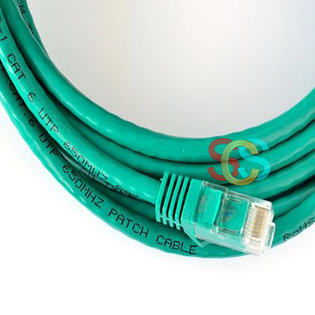 D-Link Cat-6, 1 Meter, Green Network Cable