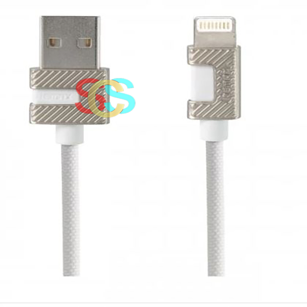 USB Male to Lightning 1 Meter White Data Cable