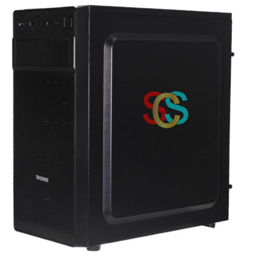 Tronix TX 8110 Mid Tower (Transparent Side Window) Gaming Desktop Case with Standard PSU