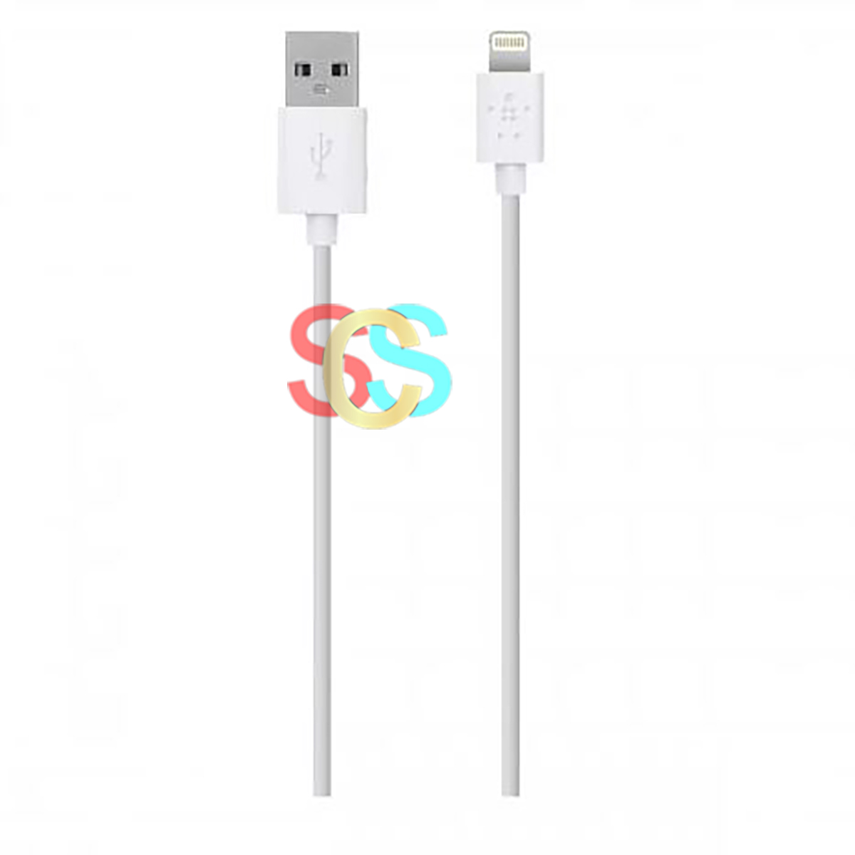 Belkin Lightning Male to USB Male, 1.2 Meter, White Charging & Data Cable
