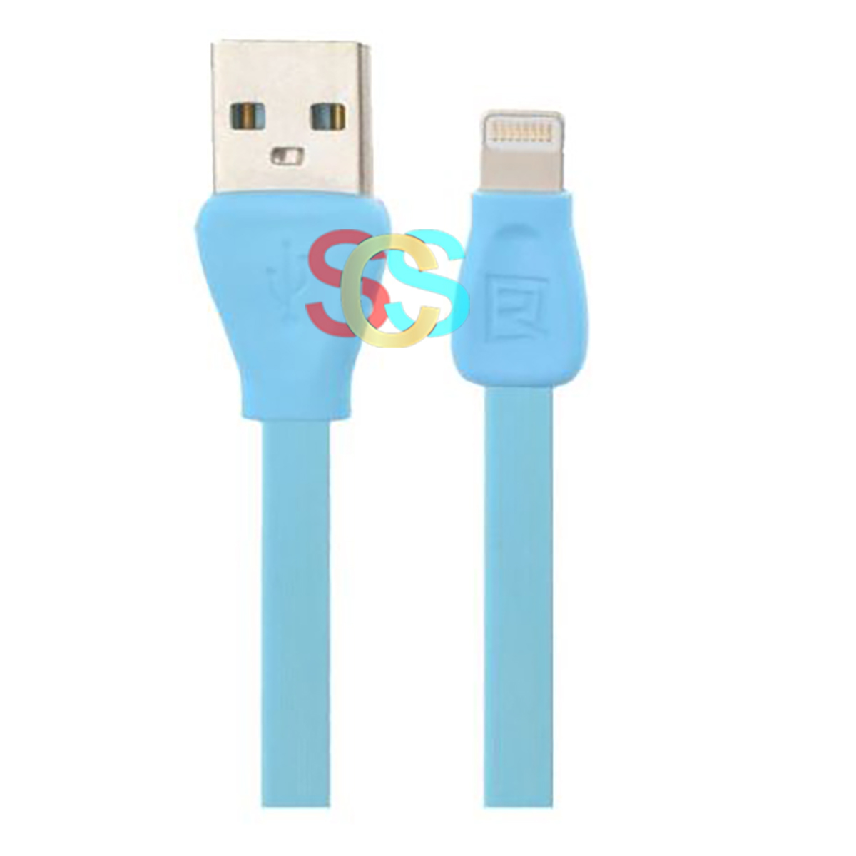 Remax USB Male to Lightning, 1 Meter, Blue Data Cable