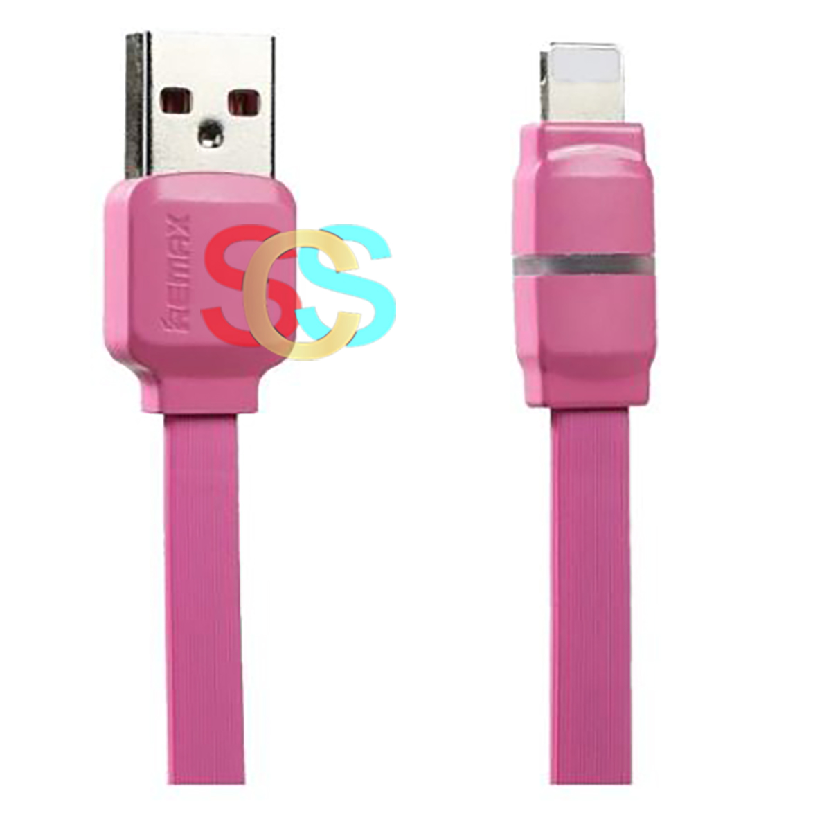 Remax USB Male to Lightning, 1 Meter, Pink Data Cable