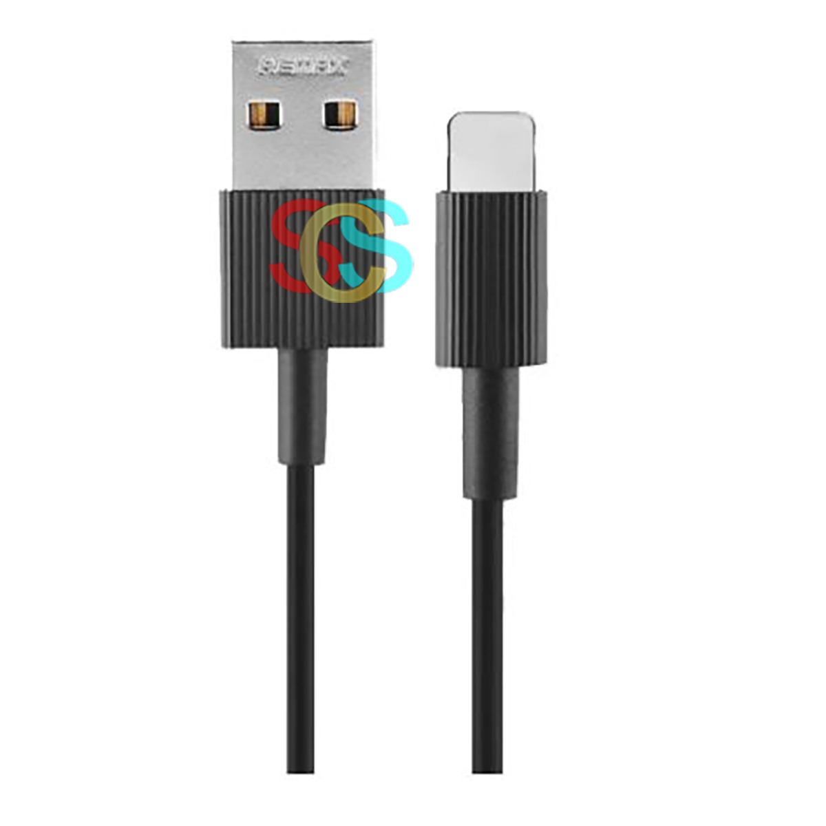 Remax USB Male to Lightning, 1 Meter, Black Charging & Data Cable