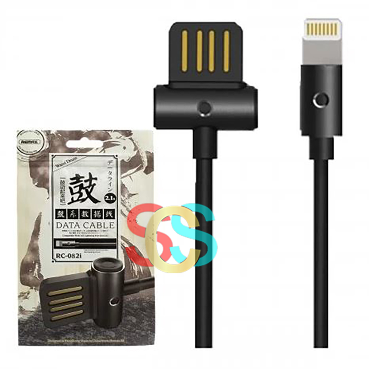 Remax USB Male to Lightning, 1 Meter, Black Data Cable
