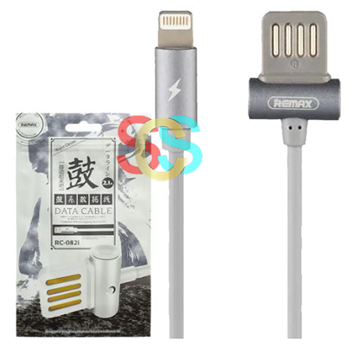 Remax USB Male to Lightning, 1 Meter, Grey Data Cable