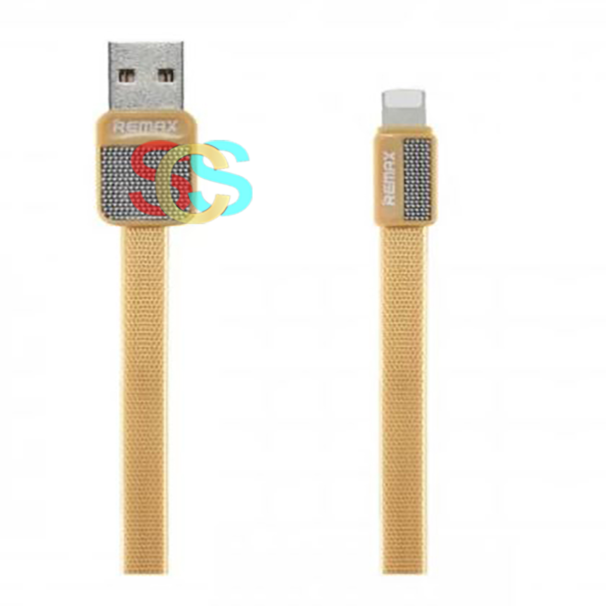USB Male to Lightning, Data Cable(1 Meter, Gold )
