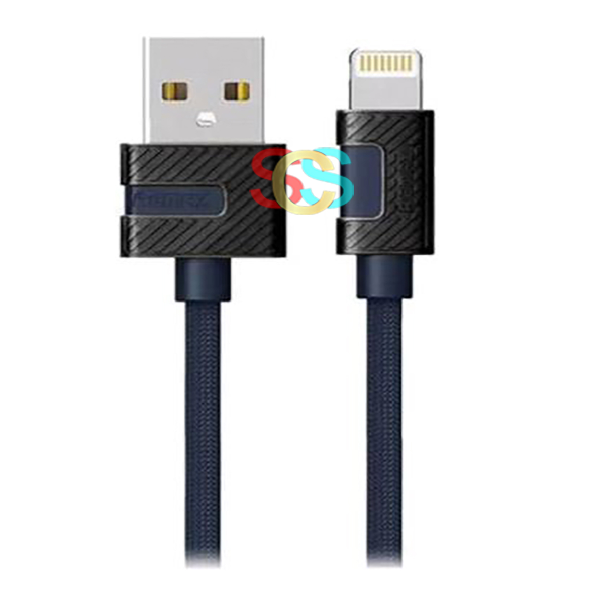USB Male to Lightning, 1 Meter, Blue Data Cable