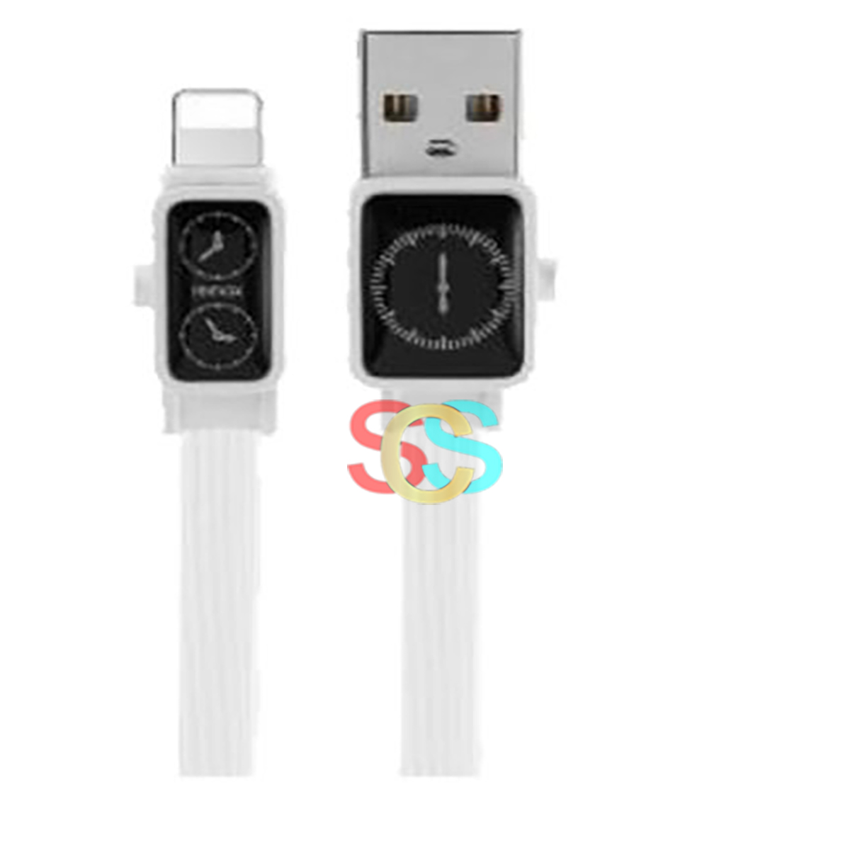 USB Male to Lightning 1 Meter White Charging & Data Cable