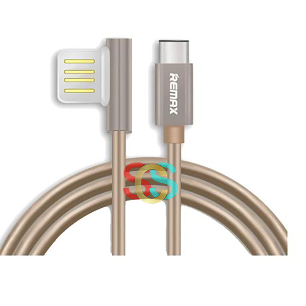 USB Male to Type-C, Data Cable(1Meter, Gold)
