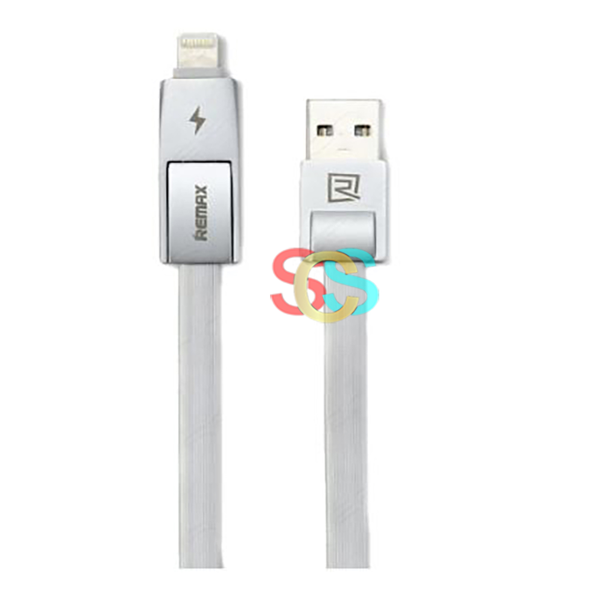 USB Male to Micro USB + Lightning, 1 Meter, Silver Data Cable