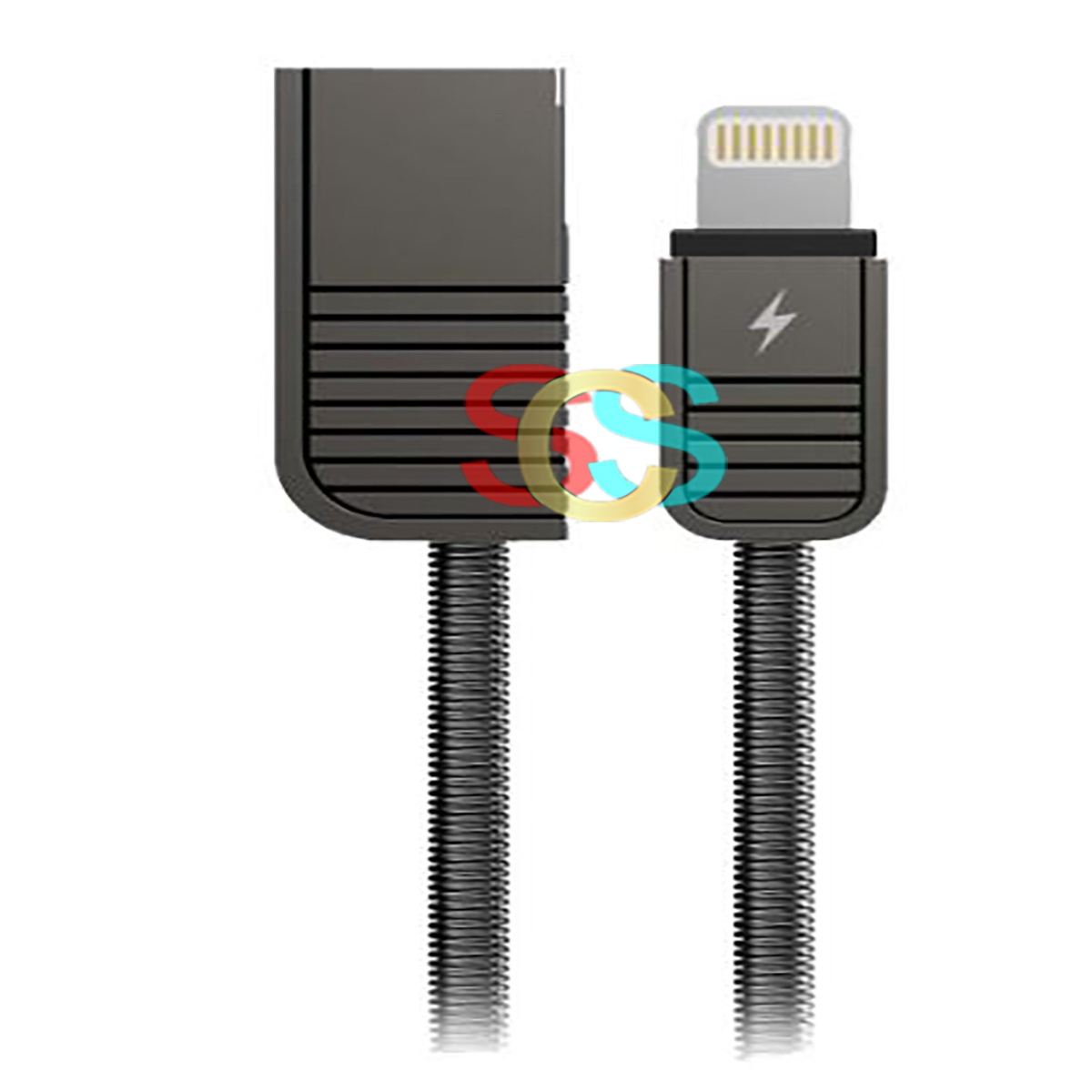 USB Male to Lightning, Data Cable Black 1 Meter