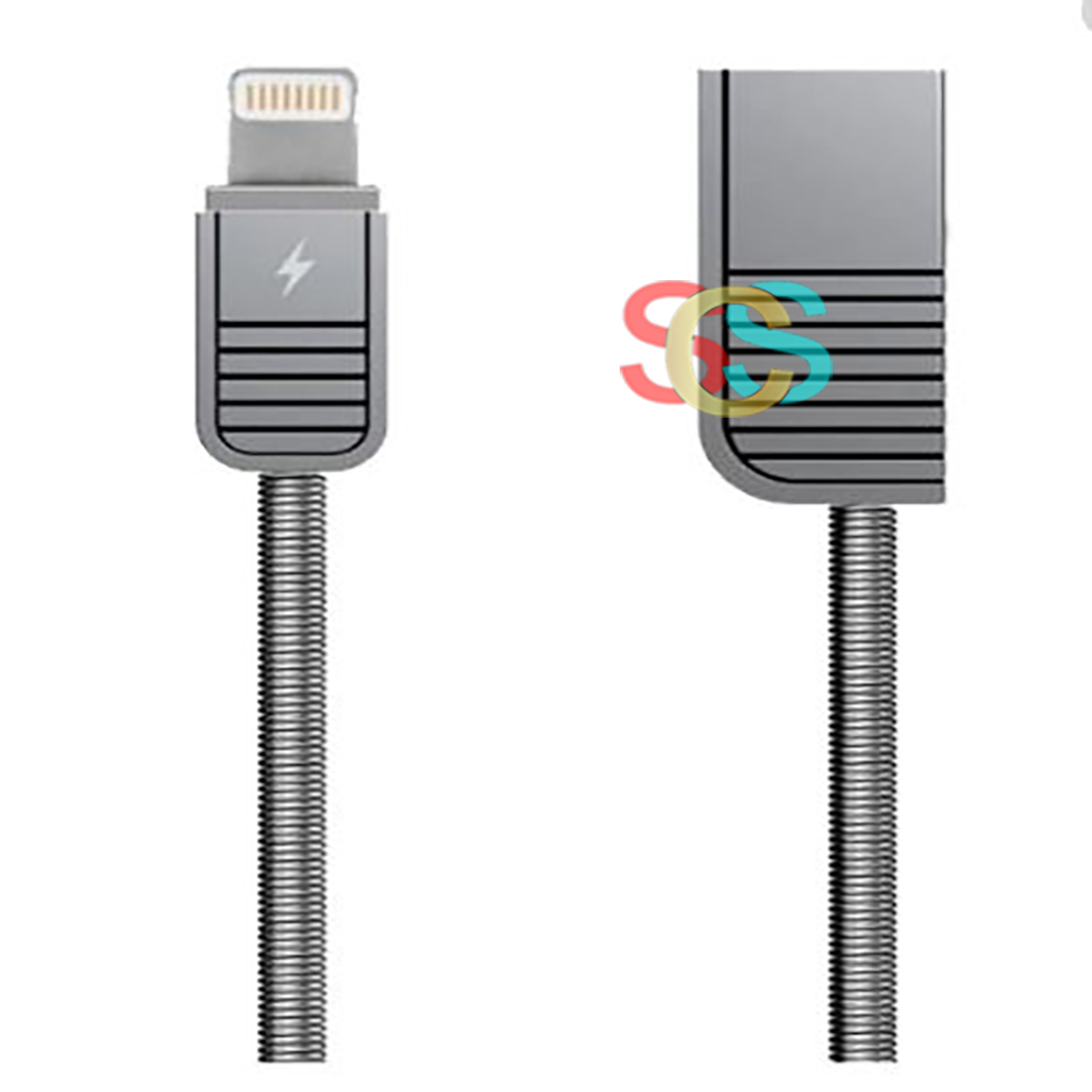 USB Male to Lightning, Data Cable( 1Meter, Silver)