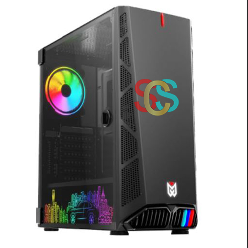 Value Top MANIA X5 E-ATX Mid Tower Black Gaming Casing